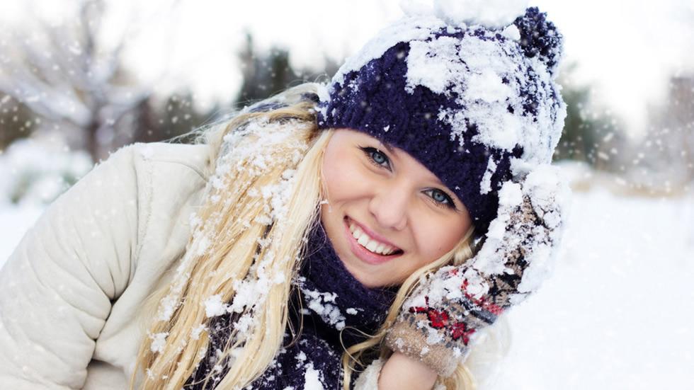 Картинки женщины зимой