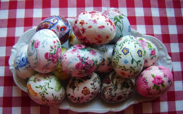 Декупаж пасхальных яиц салфетками: мастер-класс с фото