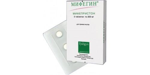 Аборт с применением Мифегина