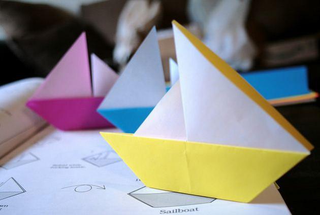 Мастер-классы с фото по изготовлению корабликов в технике оригами