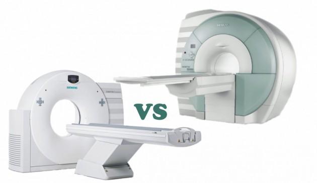 В чем отличие КТ от МРТ?