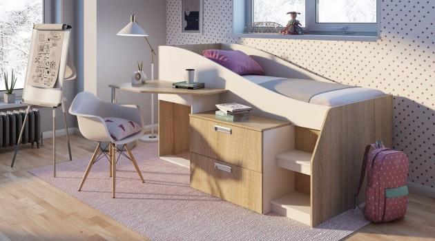 Детские кровати со столом - популярный тренд