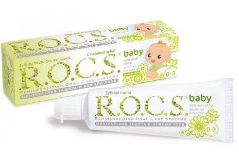 Детская зубная паста для возраста 0-3 Детская зубная паста R.O.C.S.