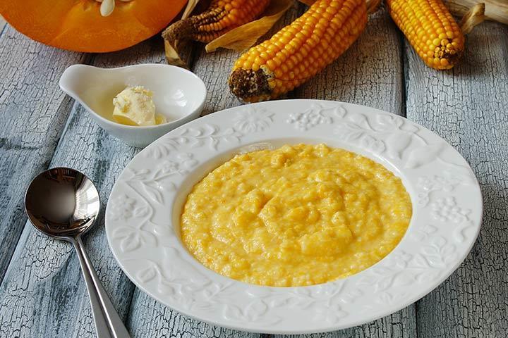 Кукурузная каша для детского прикорма