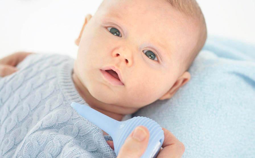 Способы очищения носа у малыша
