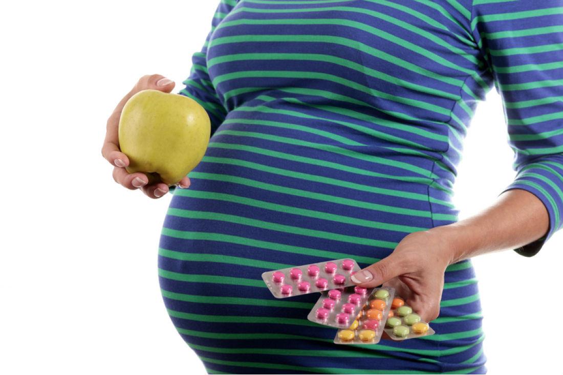 яблоко и витамины у беремнной