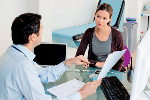 Разговор пациентки с врачом