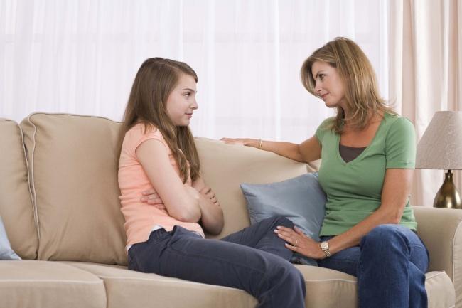 разговор с дочерью-подростком